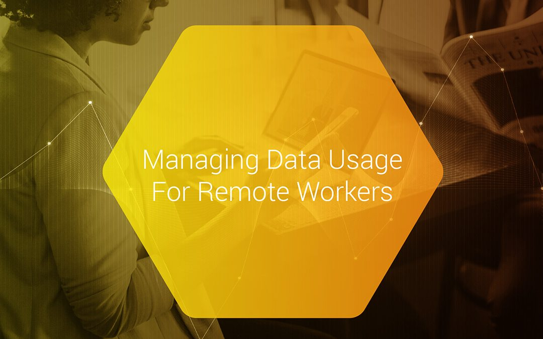 Managing data usage for remote workers